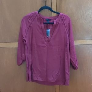 New with tags burgundy portifino shirt by Express